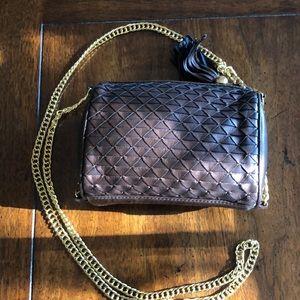 Brown (metallic) vintage Ganson bag